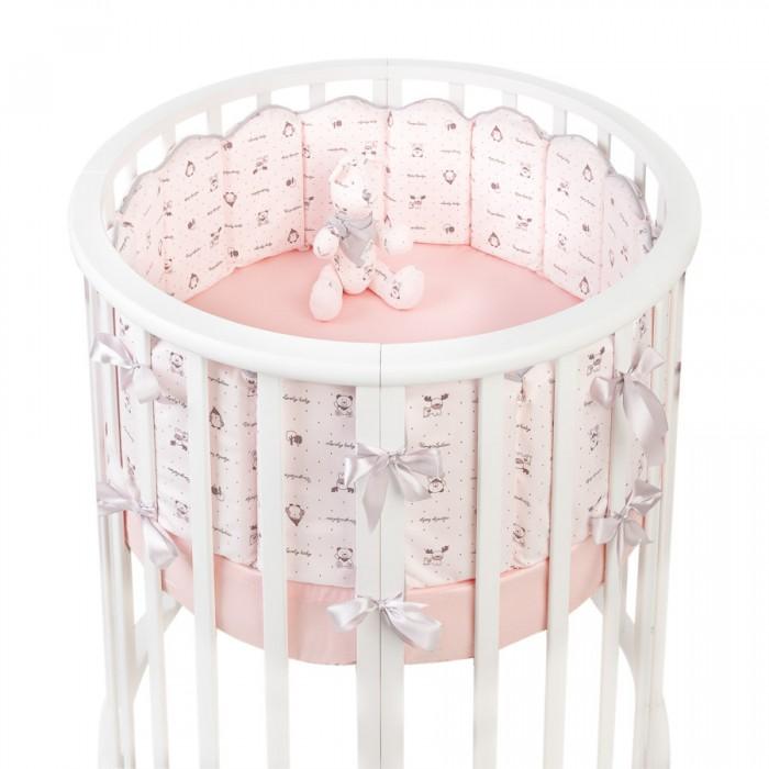 Картинка для Бортик в кроватку Fluffymoon  Lovely baby в круглую и овальную вафли