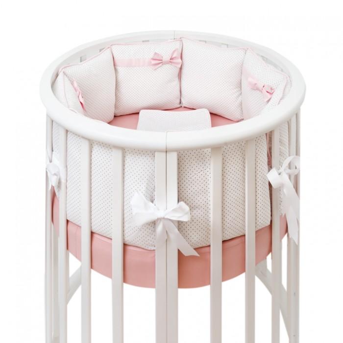 Купить Комплекты в кроватку, Комплект в кроватку Fluffymoon Pearl в круглую бортики-подушки (7 предметов)