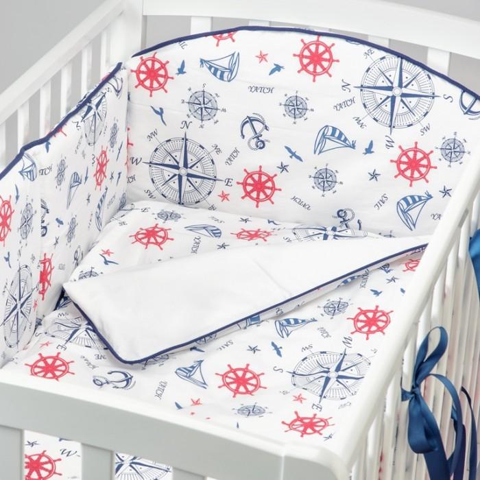 Купить Комплекты в кроватку, Комплект в кроватку Fluffymoon Sea Journey №1 (6 предметов)