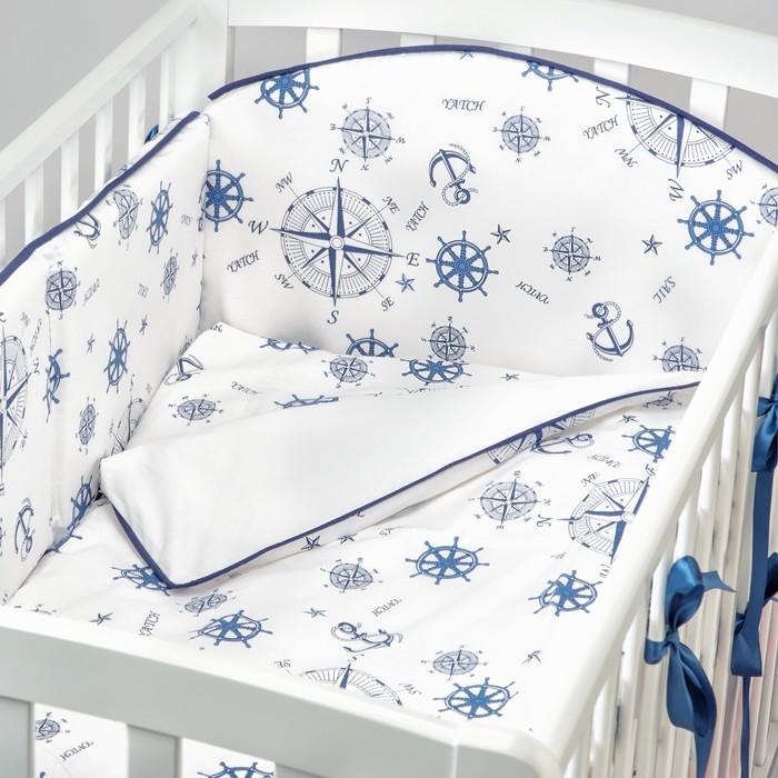 Купить Бортики в кроватку, Бортик в кроватку Fluffymoon Sea Journey №2 120x60 см