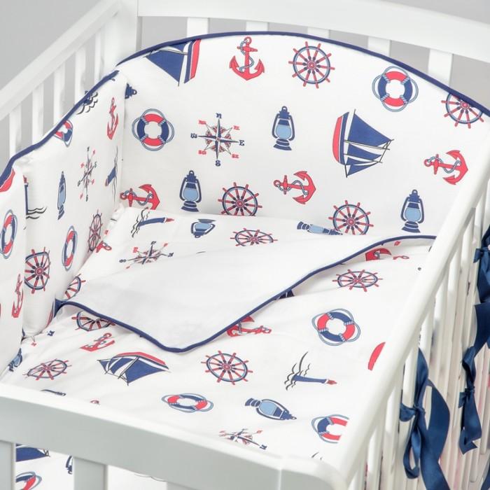 Комплект в кроватку Fluffymoon  Sea Journey №3 (4 предмета)