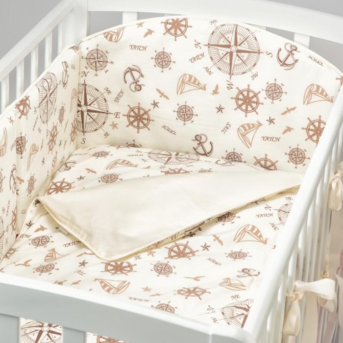 Купить Комплекты в кроватку, Комплект в кроватку Fluffymoon Sea Journey №5 (6 предметов)