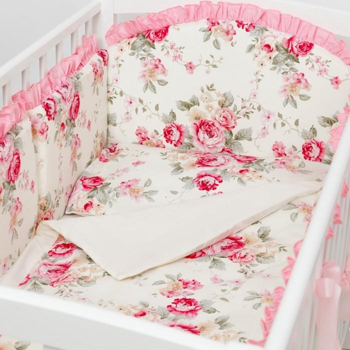 Комплект в кроватку Fluffymoon  Vintage (4 предмета)Vintage (4 предмета)Комплект в кроватку Fluffymoon Vintage (4 предмета) свесь текстиль быстро и удобно снимается, постельные принадлежности выдерживают большое количество стирок, что так важно для современных мам и их малышей.  Хлопок абсолютно гипоаллергенен и безопасен для малыша и позволяет нежной коже дышать, прекрасно впитывая влагу.      Состав комплекта: Защитный бортик на весь периметр кроватки  360 х 30 см, состоит из 4х частей. Каждая часть имеет съемный чехол, что делает бортик  удобным для стирки. Наволочка 62 x 32 см Пододеяльник 132 x 102 см Простыня на резинке для матраса 120 x 60 см Ткань: перкаль (100% хлопок)       Наполнитель: холлофайбер     Перкаль - это высококачественная хлопковая ткань, отличающаяся большой плотностью переплетения нитей, что придает ткани практичность, износостойкость и долговечность. Хлопок абсолютно гипоаллергенен и безопасен для малыша и позволяет нежной коже дышать, прекрасно впитывая влагу.  Холлофайбер - безопасный и гипоаллергенный материал, не крошится, не дает усадки, воздухопроницаемый, долговечный.<br>