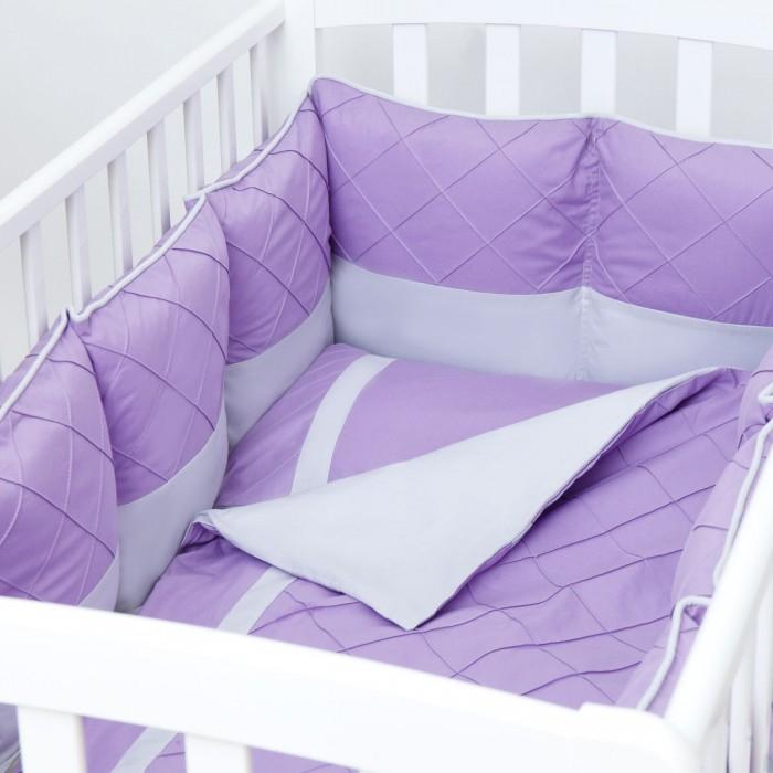 Комплекты в кроватку, Комплект в кроватку Fluffymoon Viola (6 предметов)  - купить со скидкой