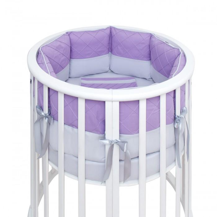 Комплекты в кроватку, Комплект в кроватку Fluffymoon Viola в круглую подушки (7 предметов)  - купить со скидкой