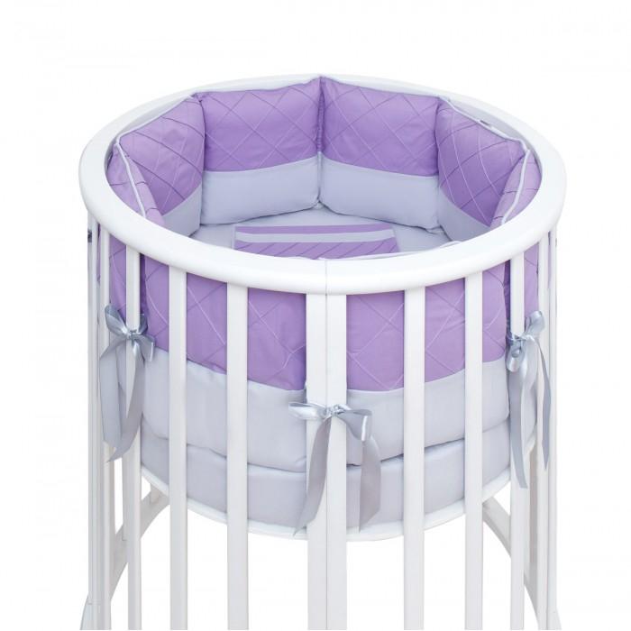Бортик в кроватку Fluffymoon  Viola в круглую и овальную подушки