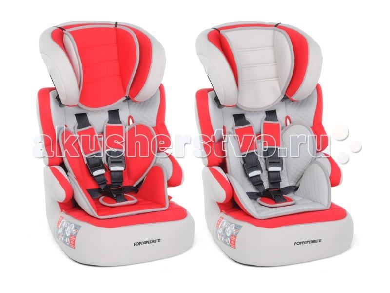 Автокресло Foppapedretti BabyroadBabyroadДетское автокресло Foppapedretti Babyroad 9-36 кг с оригинальным дизайном станет великолепным дополнением в салоне автомобиля. Его функциональные особенности порадуют как малышей, так и их родителей. Купив это сидение, вы обеспечите защиту детям с 9-12 месяцев до 12 лет. Пока ребенок не достигнет возраста 4-х лет или веса 18 кг, автокресло нужно пристегивать штатным ремнем, а ребенка удерживать ремнями безопасности, находящимися на автокресле. Специальный фиксатор для ремней исключит случайное расстегивание детьми. Старше 4-х лет кресло используется как дополнительное сидение, при этом безопасности ребенку обеспечивают штатные авторемни.  Комфорт в сидении достигнут благодаря использованию анатомической вкладки и удобного подголовника. Поменяв их местами можно менять дизайн и цветовую гамму. Механизм подголовника имеет несколько режимов положений. Повышают степень безопасности при ударе авто боковые укрепленные ограждения. В зависимости от привычек ребенка, положение наклона кресла устанавливается в одном из нескольких позиций.   Характеристики: универсальное детское автокресло группы 1/2/3 предназначено для детей весом от 9 до 36 кг (возраст от 1 года до 12 лет) соответствует европейским нормам ECE R 44/04 внутренние ремни и подголовник регулируются по высоте сиденье имеет анатомическую форму и несколько положений для полного комфорта система боковой защиты обезопасит ребенка при боковых столкновениях для комфорта ребенка предусмотрен двусторонний анатомический вкладыш пятиточечные ремни безопасности с мягкими накладками материал - микрофибра устанавливается по ходу движения автомобиля с помощью штатных ремней безопасности  Размеры (вхгхш) 71-84x50x44 см Вес 5.5 кг<br>