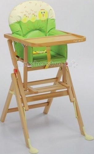Стульчик для кормления Foppapedretti IlSedioloneIlSedioloneДетский стульчик хорошо впишется в дизайн кухни, сделанной под дерево. Стульчик для кормления выполнен из экологически чистого материала с использованием нетоксичных лаков.  Характеристики:  необычная и крепкая конструкция материл изготовления – массив настоящего бука на ножках спереди специальные опоры для устойчивости предусмотрена регулировка высоты сидения чехол легко снять для чистки ремешки безопасности, в том числе между ножек, чтобы ребенок не выпал компактно складывается  Габариты:  размеры в разобранном виде: 50х65х94 см  размер в собранном состоянии: 65x50x18 см<br>