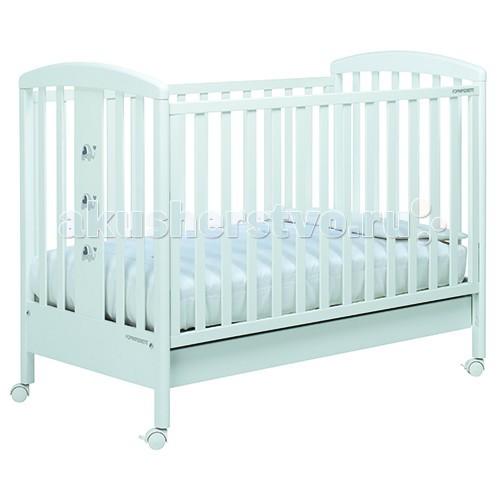 Детская кроватка Foppapedretti PakyPakyДетская кроватка Foppapedretti Paky – это современные технологии и высокое качество материалов для самого комфортного и безопасного сна вашего малыша.  Для удобства мамы, боковая стенка кровати регулируется в двух положениях по высоте. Кроватка оснащена вместительным двухсекционным ящиком и прорезиненными колесиками с фиксаторами для ее легкого перемещения.   Отсутствие острых углов и идеальная обработка каркаса, современные экологически чистые материалы в соответствии с европейскими стандартами безопасности подарят малышу самые сладкие сны. Одна из спинок кровати украшена очаровательными слониками с объемными сердечками.  Особенности: Каркас кровати выполнен из сертифицированного массива бука – прочного и долговечного материала, лучшего для малыша первых лет жизни. Он покрыт специальными нетоксичными лаком и красками, полностью безопасными для ребенка.  Передняя стенка кровати легко регулируется в двух вариантах по высоте с помощью механизма «автостенка». Кровать подходит для матраса размером 125x65 см и толщиной до 12 см. Кроватка имеет большой удобный выдвижной ящик с двумя отделениями для хранения предметов, необходимых для ухода за ребенком. Мобильность модели обеспечивают четыре поворотных резиновых колеса, не царапающие поверхность пола. Для установки в неподвижном положении на двух из них имеются стопоры Кровати Foppapedretti соответствуют самым строгим европейским стандартам безопасности, имеют жесткую систему контроля качества. В них отсутствуют мелкие детали, которые могут быть случайно проглочены ребенком, закруглены углы и края, тщательно рассчитано безопасное расстояние между прутьями. Кровати испытаны с использованием статических и движущихся объектов, что гарантирует их устойчивость даже для самых подвижных малышей. Подъем и опускание подвижной стороны кровати требует двойного действия, которое может быть выполнено только взрослыми людьми и полностью безопасно для малыша Нежный и изысканный дизайн коллекции Paky
