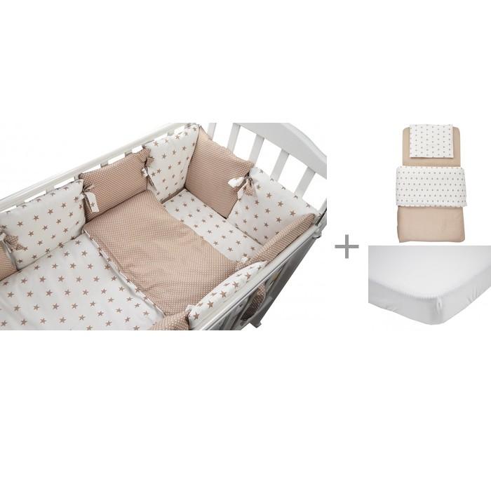 Комплект в кроватку Forest Dream (17 предметов) с постельным бельем и наматрасником Jersey фото