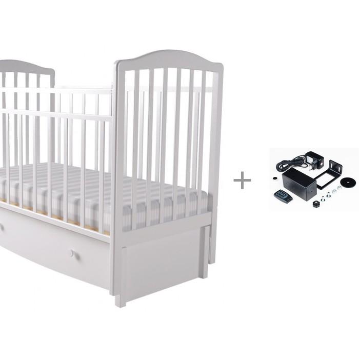 Детская кроватка Forest Malva маятник универсальный (с ящиком) и укачиватель Паинька