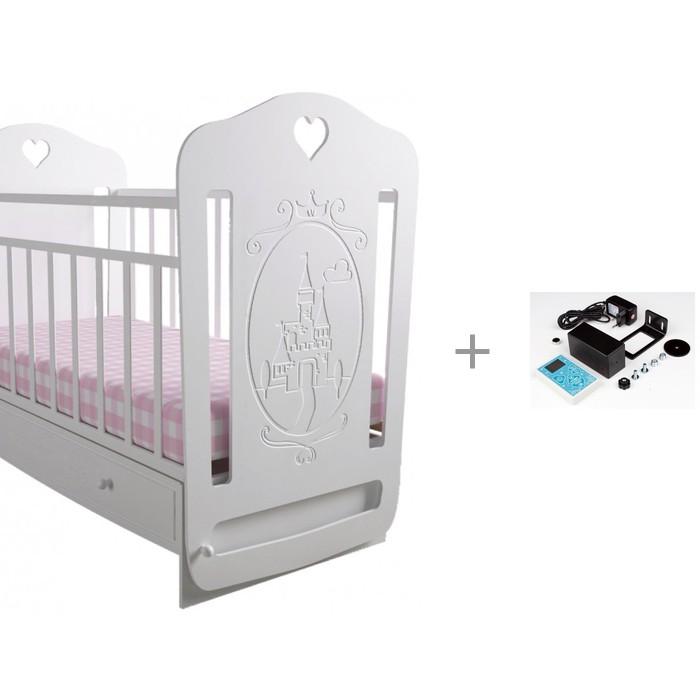 Детские кроватки Forest Принцесса маятник поперечный и укачиватель Совушка c Wi-Fi