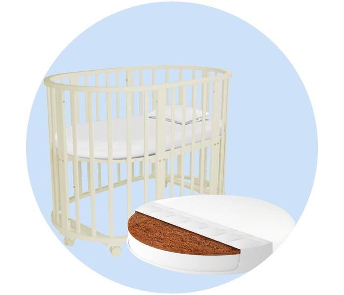Кроватки-трансформеры Forest круглая Lavatera 6 в 1 (колесо) с матрасом и наматрасником