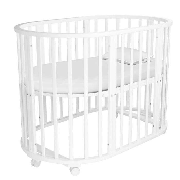 Детская мебель , Кроватки-трансформеры Forest круглая Lavatera 6 в 1 (колесо) арт: 529291 -  Кроватки-трансформеры