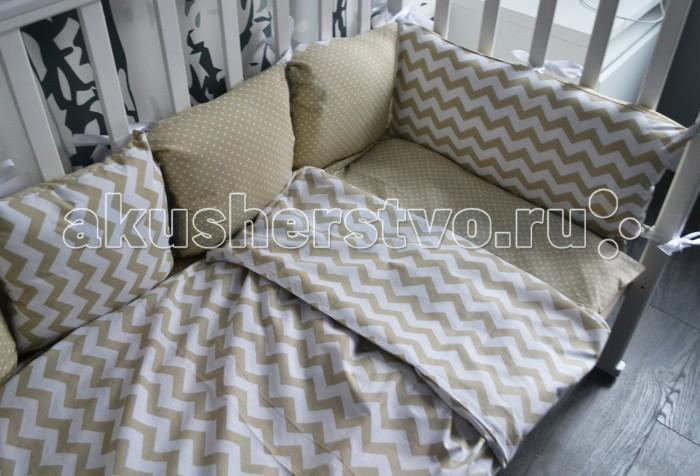 Бортик в кроватку Forest подушки Choo-choo