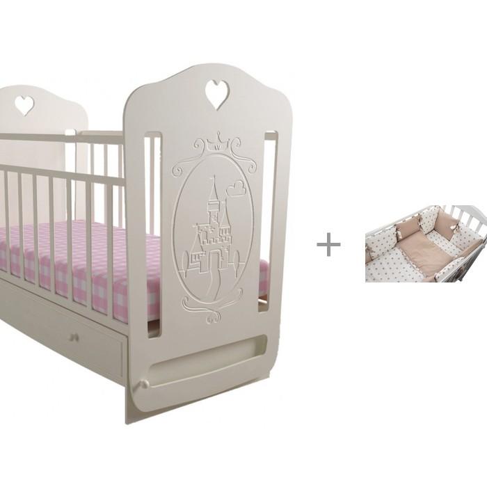 Детские кроватки Forest Принцесса маятник поперечный с комплектом в кроватку Dream