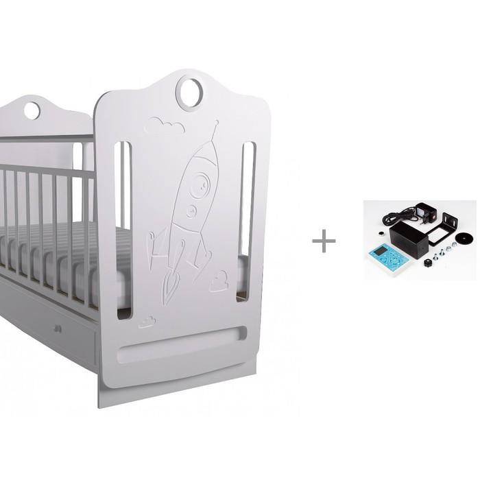 Картинка для Детская кроватка Forest Space маятник поперечный с укачивателем Соня