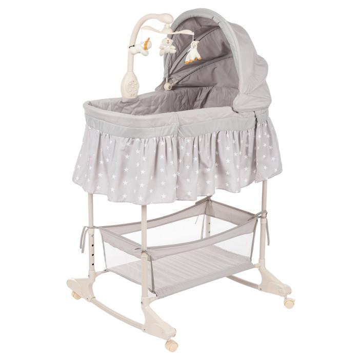 Колыбель Forest WilmaКолыбели<br>Колыбель кроватка Forest Wilma идеальное решение для сна в первые месяцы малышам дома.  Колыбель с легкостью облегчит адаптацию малыша и мамы дома, и поможет правильной организации сна.  Расположив колыбель рядом с родительской кроваткой у вас всегда будет возможность быть рядом с малышом, легкой доступ к нему, а так же колыбель гораздо компактнее и удобнее обычной кроватки, которую не удобно располагать рядом с своей кроватью.  Высокое положение ложа, с возможностью регулировке помогает маме облегчить нагрузку на спину.   Особенности: Удобно размещается рядом с родительской кроваткой  В комплекте мобиль с игрушками с музыкой (Батарейка в комплект не входят) Модуль вибрации Удобные колесики позволяют легко перемещать колыбель по квартире  Полозья для укачивания  Возможность регулировки высоты  Размер колыбели: 80х40х25