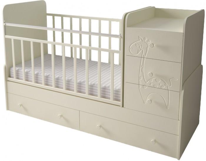 Детская мебель , Кроватки-трансформеры Forest Lovely Giraffe (поперечный маятник) арт: 295246 -  Кроватки-трансформеры