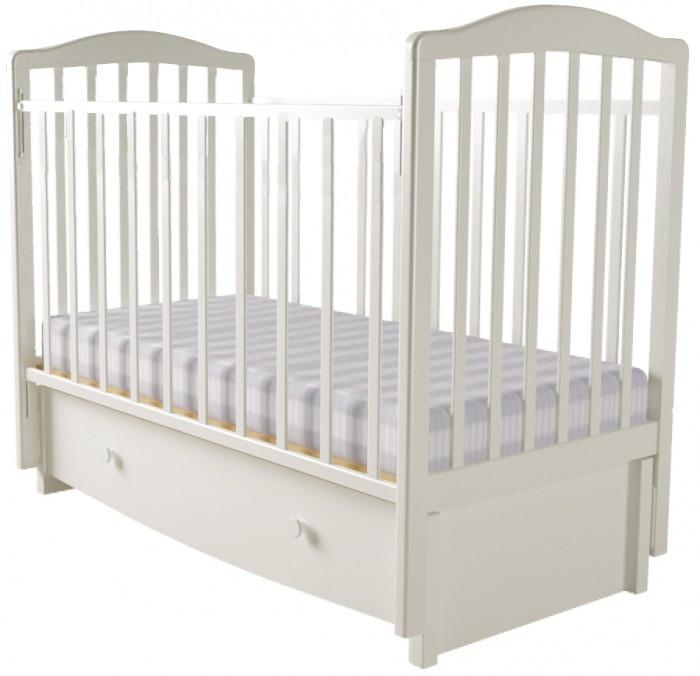 Детская мебель , Детские кроватки Forest Malva маятник продольный (с ящиком) арт: 323504 -  Детские кроватки