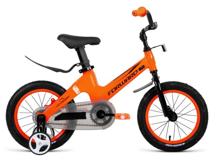 Велосипед двухколесный Forward Cosmo 12 2019Двухколесные велосипеды<br>Велосипед двухколесный Forward Cosmo 12 2019 - предназначен для комфортного катания в городе. Съемные боковые колеса помогают держать равновесие. Сзади ручка, позволяющая взрослому корректировать движение. Геометрия рамы адаптирована под детские пропорции. Регулируемый вынос руля позволяет настраивать высоту и угол наклона руля под индивидуальные параметры велосипедиста.  Материал рамы - магниевый сплав, количество скоростей - 1, колеса - 12.