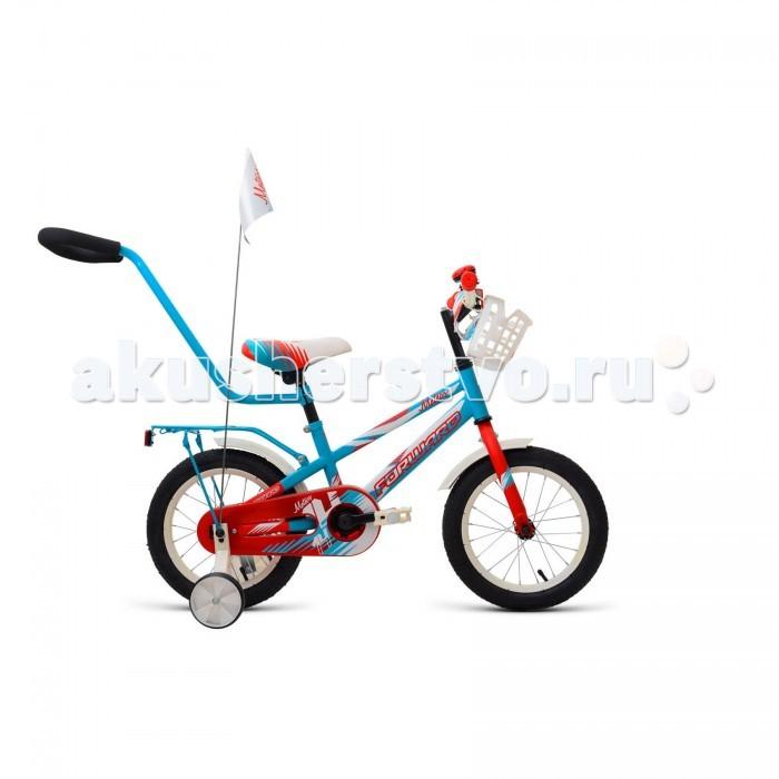 Велосипед двухколесный Forward Meteor 14 (2018)Meteor 14 (2018)Велосипед двухколесный Forward Meteor 14 (2018) собран на прочной раме из Hi-ten стали, передняя вилка жесткая, руль и сидение регулируются по высоте.   Для обучения катанию велосипед оснащен боковыми колесиками, а для безопасности ребенка установлена полная защита цепи, на руле есть мягкая накладка, установлен звонок. Для удобства родителей имеется удобная ручка для помощи, установлен флажок для лучшей видимости. Тормоза у велосипед ножные-педальные. В комплекте есть багажник и корзинка для игрушек на руле.  Особенности: Рама: Hi-Ten Материал рамы: Сталь Амортизация: Жесткий Тормоз: Ножной педальный Диаметр: колёс 14 Вилка: Жесткая, стальная Количество скоростей: 1 Грипсы: Детские Педали: Пластик Задний тормоз: Ножной.<br>
