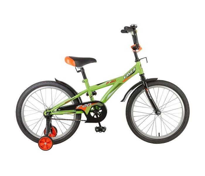 Велосипед двухколесный Foxx F 20F 20Велосипед двухколесный Foxx F 20 отличная модель для детей 5-7 лет, которая сочетает в себе удобство, отличный спортивный дизайн и качество сборки.   Для комфортных поездок по сложной трассе либо по пересеченной местности велосипед оборудован задним амортизатором и двумя дополнительными съемными колесами. Они же не дадут железному коню упасть на крутом повороте и помогут легко его припарковать в нужном месте, когда седок захочет пройтись пешком. Быстро затормозить поможет ножной тормоз.  Велосипед укомплектовали мягким регулируемым седлом, которое обеспечит удобную посадку во время катания. Руль велосипеда также регулируется по высоте и наклону, благодаря чему велосипед прослужит ребенку не один год. В качестве приятного бонуса можно отметить короткие пластиковые крылья.<br>