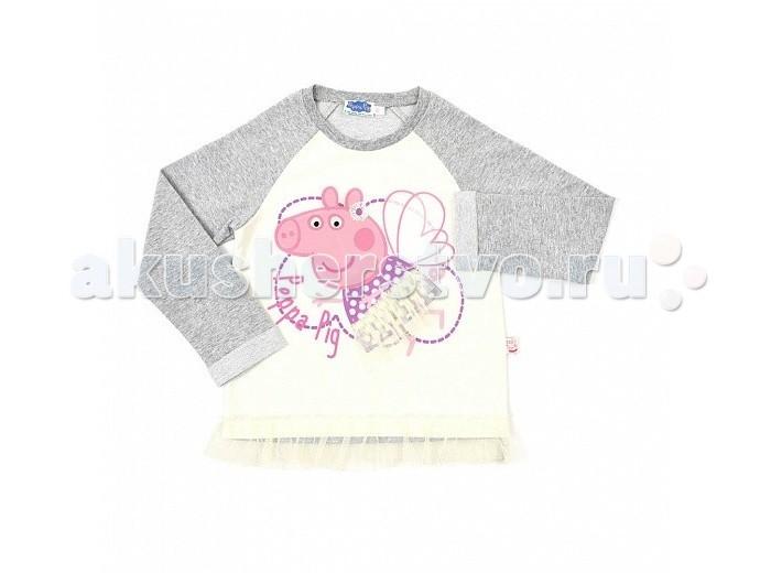 Детская одежда , Водолазки и лонгсливы Free Age Лонгслив Свинка Пеппа ZG 09291-MW1 арт: 284455 -  Водолазки и лонгсливы