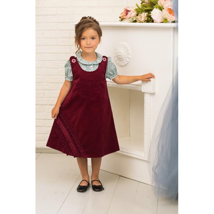 Детская одежда , Детские платья и сарафаны Frizzzy Сарафан вельветовый украшен воланами арт: 420999 -  Детские платья и сарафаны