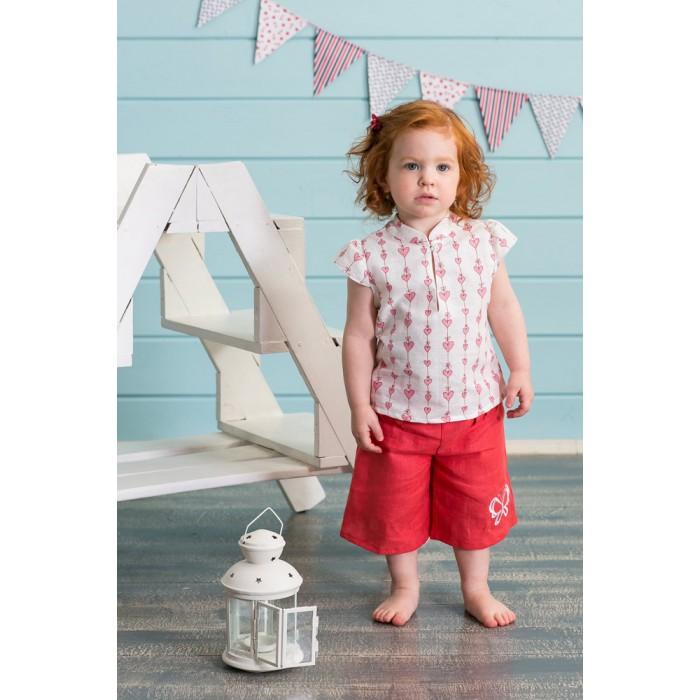 Детская одежда , Блузки и рубашки Frizzzy Блузка изо льна Бал Сердец арт: 210882 -  Блузки и рубашки