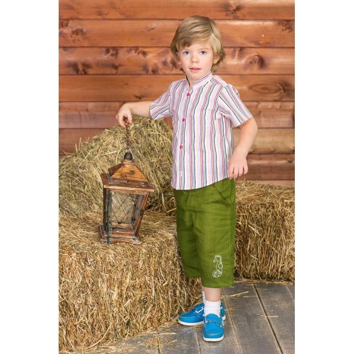 Детская одежда , Шорты и бриджи Frizzzy Бриджи детские изо льна с вышивкой 1278 арт: 300622 -  Шорты и бриджи