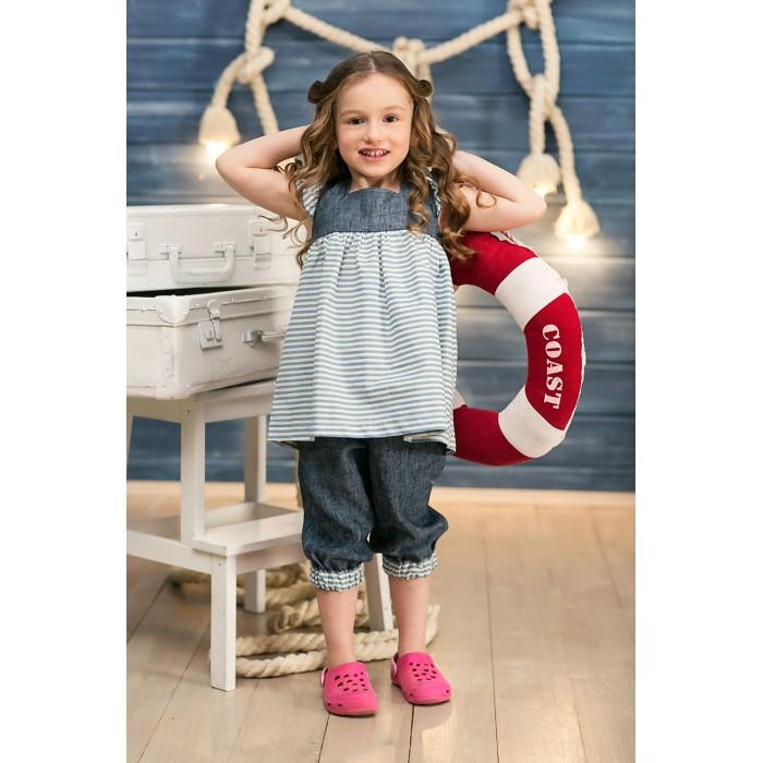 Детская одежда , Шорты и бриджи Frizzzy Бриджи для девочки Морские изо льна арт: 300643 -  Шорты и бриджи
