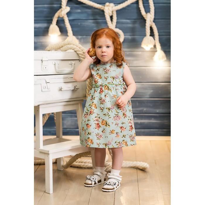 Детские платья и сарафаны Frizzzy Платье Цветы на голубом
