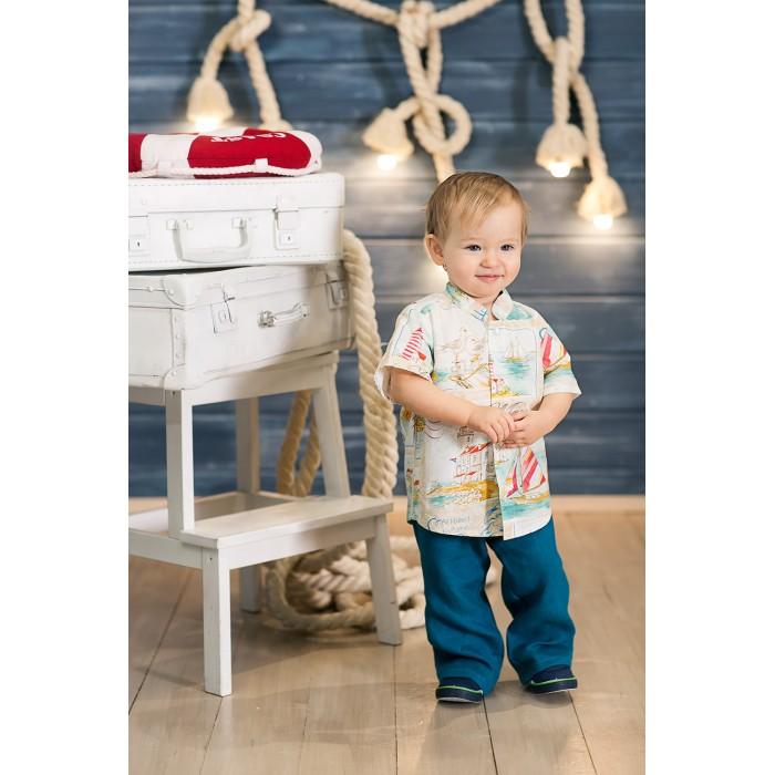 Детская одежда , Блузки и рубашки Frizzzy Рубашка для мальчика короткий рукав Морская арт: 300769 -  Блузки и рубашки