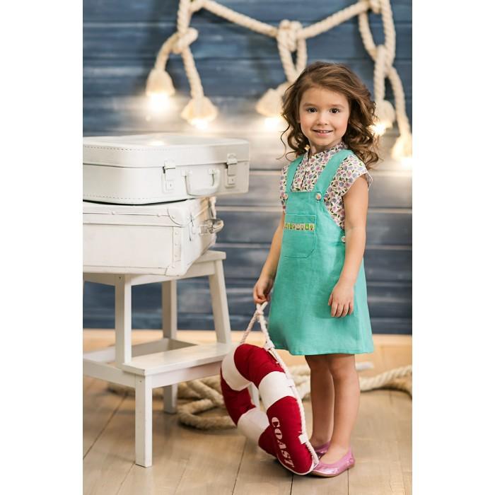 Детские платья и сарафаны Frizzzy Сарафан изо льна с тесьмой женская одежда