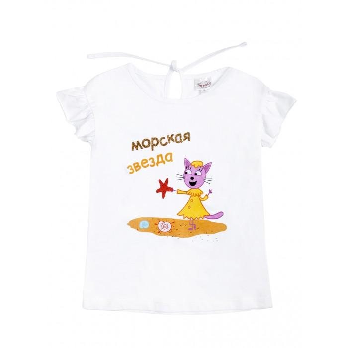 Футболки и топы Frutto Rosso Футболка для девочки Три кота TKG183