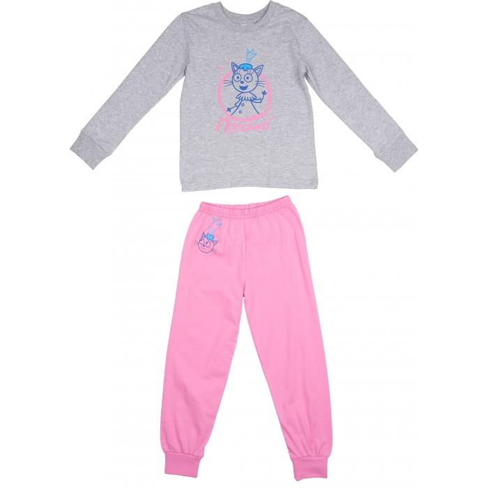 Детская одежда , Пижамы и ночные сорочки Frutto Rosso Пижама для девочки (Кофта и штанишки) Три кота арт: 420524 -  Пижамы и ночные сорочки