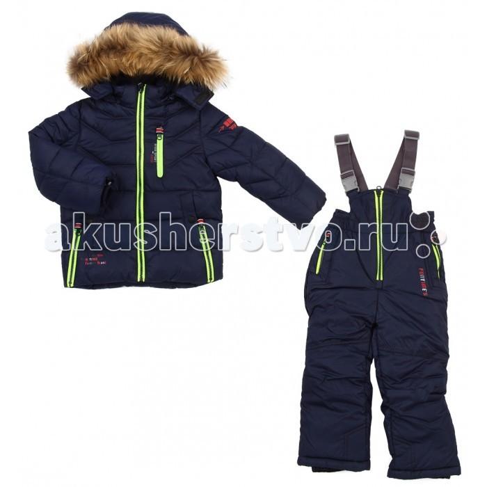 Fun Time Комплект из куртки и полукомбинезона HKF1618Комплект из куртки и полукомбинезона HKF1618Fun Time Комплект из куртки и полукомбинезона   Теплый полукомбинезон и курточка- находка для зимних прогулок с малышом! Комплект очень лёгкий и удобный в носке.  Ткань обладает хорошими воздухообменными свойствами при этом хорошо защищает от ветра. Защиту от влаги создает специальное водонепроницаемое и водоотталкивающее покрытие.  Рассчитана на температуру от 0С до -15С.   Уход: стирка в режиме автомат до 40 градусов.<br>