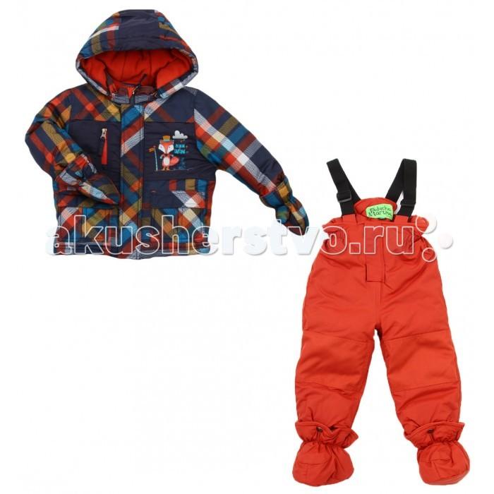 Peluchi &amp; Tartine Куртка и полукомбинезон для мальчиков F16M03Куртка и полукомбинезон для мальчиков F16M03PELUCHI&TARTINE комлпект для мальчиков (куртка+полукомбинезон) из коллекции зима 2016-2017.  Состоит из куртки и полукомбинезона, изготовленных из водоотталкивающей ткани с утеплителем из изософта, а для максимального комфорта на подкладке используется флис, который сохраняет тепло.  Состав: подклад куртки: микро флис & тафта  (100% полиэстер ); подклад брюки: тафта (100% полиэстер).  Предназначен для температуры от 0С  до -30С.<br>