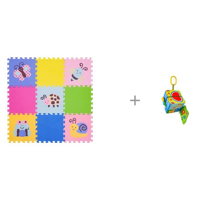 """Картинка для """"Игровой коврик FunKids 12"""""""" Окружающий Мир, толщина 15мм и Подвесная игрушка Forest Яркий Кубик"""""""