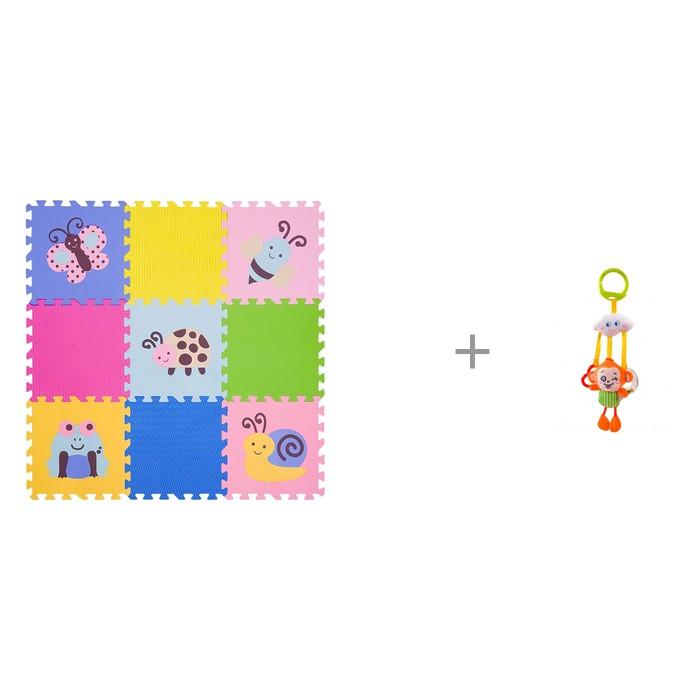 """Картинка для """"Игровой коврик FunKids 12"""""""" Окружающий Мир, толщина 15мм KB-D20B-NT и Подвесная игрушка Forest Обезьянка с колечками"""""""