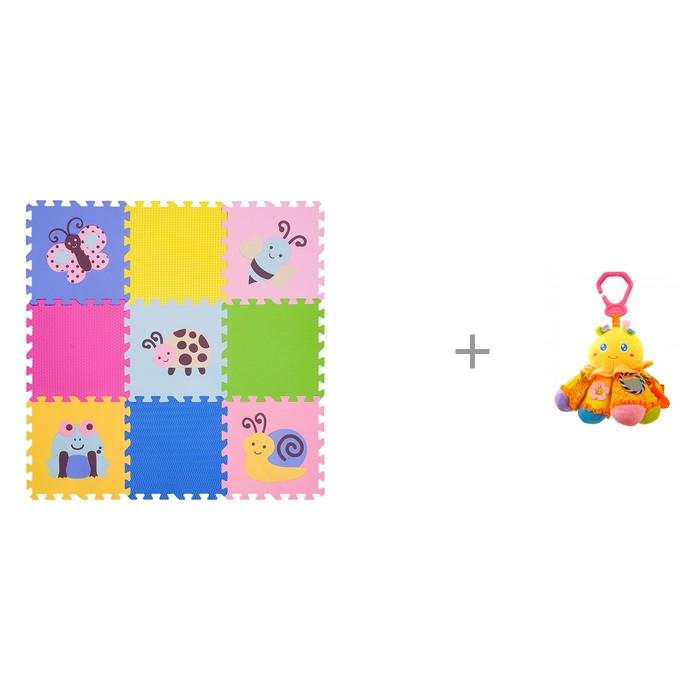 """Картинка для """"Игровой коврик FunKids 12"""""""" Окружающий Мир, толщина 15мм KB-D20B-NT и Подвесная игрушка Forest Осьминожка"""""""