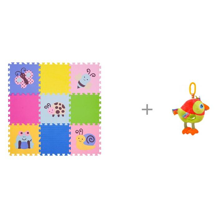 """Картинка для """"Игровой коврик FunKids 12"""""""" Окружающий Мир, толщина 15мм KB-D20B-NT и Подвесная игрушка Forest Попугай Музыкальная"""""""
