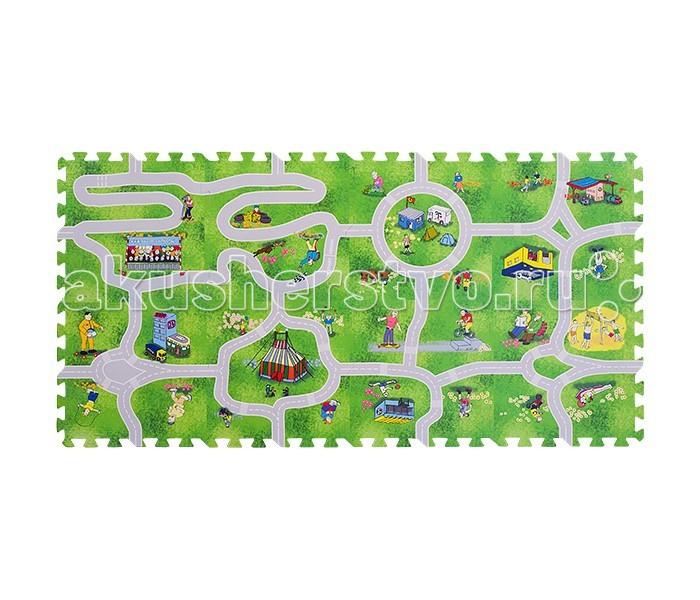 Игровые коврики FunKids пазл 12 Город-1 с дорогами игровые коврики funkids алфавит 1 kb 007r nt