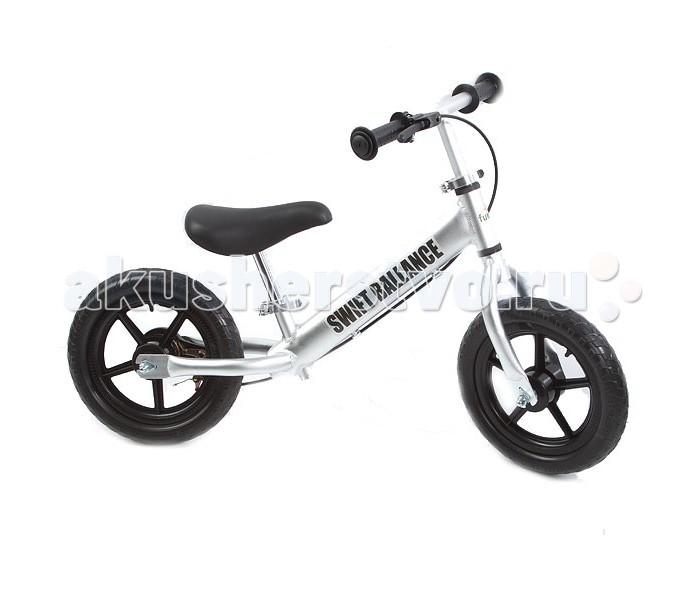 Беговел FunKids Swift Ballance 12 с ручным тормозомSwift Ballance 12 с ручным тормозомБеговел Funkids Swift Bike - велобег, оснащенный ручным тормозом. Удобное седло и широкие ненакачиваемые колеса сделают прогулки комфортными и незабываемыми.  Беговелы – это детские двухколесные велосипеды, у которых нет педалей. Они совмещают в себе черты велосипеда и самоката и помогают держать равновесие.  Особенности: 12 дюймовые ненадувные колеса - невозможно проколоть эргономичное сидение с мягкой накладкой - комфортное катание полностью алюминиевая рама - очень легкий - всего 2.6 кг тормоз заднего колеса - контроль скорости и безопасность тип тормоза - барабан высота руля - от 45 до 55 см высота сиденья - от 30 до 45 см длина - 87 см предназначен для детей от 3 лет (до 28 кг)  Вес беговела: 2.6 кг<br>