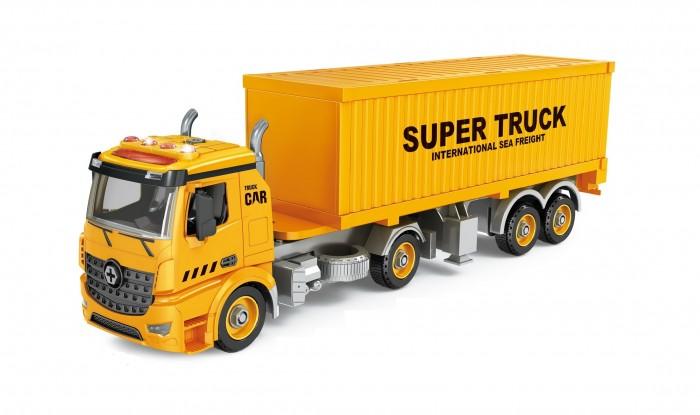 Машины Funky Toys Контейнеровоз-конструктор фрикционный 47 см