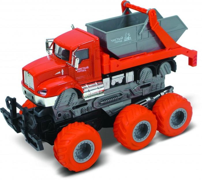 Картинка для Машины Funky Toys Мусоровоз с краш-эффектом Die-cast 6х6 1:43