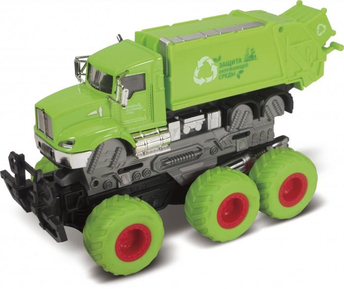 Картинка для Машины Funky Toys Мусоровоз с краш-эффектом кабина die-cast