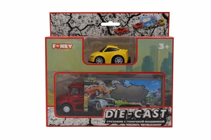 Фото - Машины Funky Toys Набор: грузовик и машинка die-cast машины maya toys машинка крутая тачка