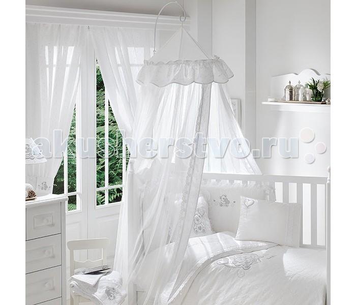 Балдахин для кроватки Fiorellino Lovely BearLovely BearНежный балдахин для детской кроватки Fiorellino Lovely Bear, сделанный из тюля, будет радовать Вас своим аристократическим внешним видом, а Вашего малыша – надежной защитой от яркого света, мух и комаров.  Длина- 8 метров.<br>